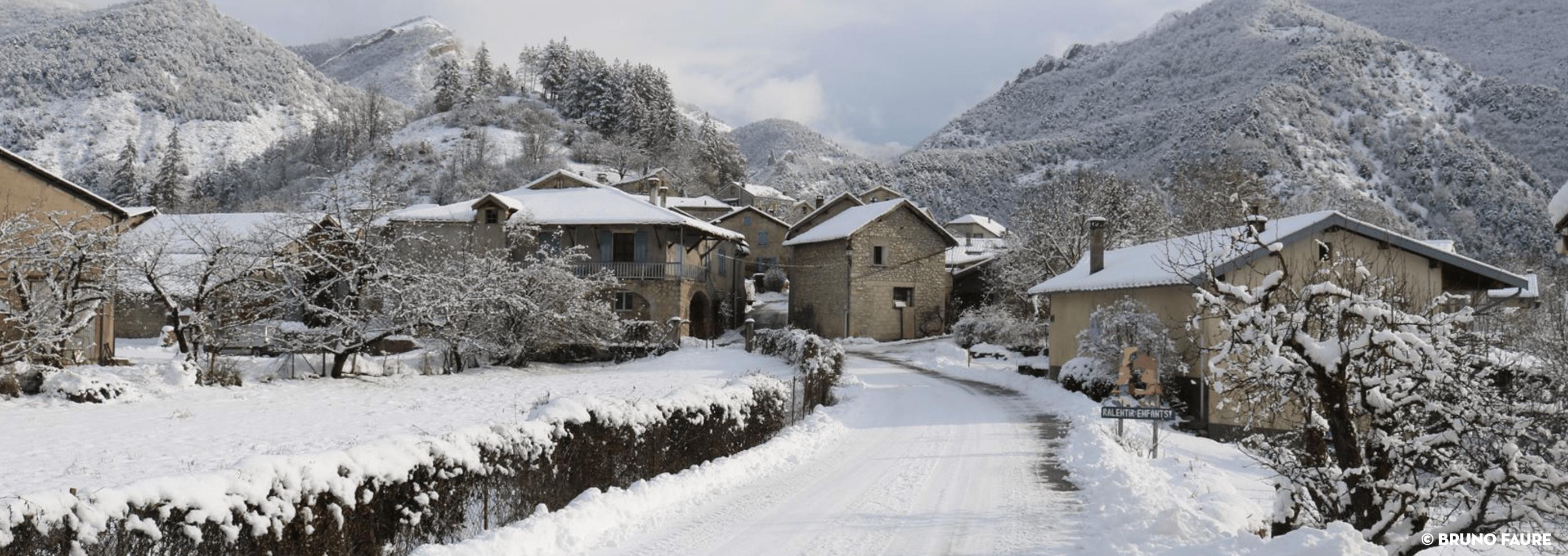 Le Saix sous la neige